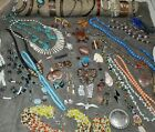 Vintage jewelry lot Tribal Native Southwest Amber Coral Jade Sterling Copper
