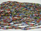 25 Strands 15 Multicolor Chevron Glass Beads Lot Wholesale 5mm 12mm Mix