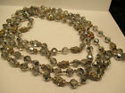 Vintage Art Deco Crystal Bead and Rhinestone Necklace 78 Long