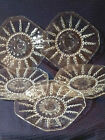 (5) GLASS FEDERAL GLASS COLUMBIA CRYSTAL LUNCHEON SIZE PLATES-6