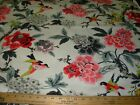 7 1 8 YDS WAVERLY BIRDS ON BRANCHES FLORAL COTTON UPHOLSTERY FABRIC FOR LESS
