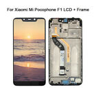 For XiaoMi Pocophone F1 Black LCD Display Touch Screen Digitizer Frame Assembly