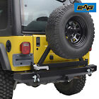 EAG Rear Bumper W/Tire Carrier&Hitch Receiver Fit for 87-06 Jeep Wrangler YJ/TJ