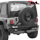 Tidal Rear Bumper with Tire Carrier&Hitch Receiver Fit 87-06 Jeep Wrangler TJ/YJ