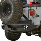Tidal Black Rear Bumper with EZ Grip Tire Carrier Fit 87-06 Jeep Wrangler TJ/YJ