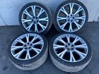 JAGUAR XJ XJL 20 INCH WHEEL RIM RIMS WHEELS SET WITH TIRES ORIGINAL OEM 10 15