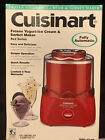 NEW Cuisinart ICE 20R 15 Quart Red Fully Automatic Ice Cream Yogurt Maker