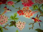 10 YDS WAVERLY BIRDS ON BRANCHES FLORAL COTTON UPHOLSTERY FABRIC FOR LESS