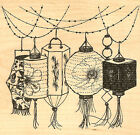 Paper Lanterns Wood Mounted Rubber Stamp Impression Obsession Stamp L13201 NEW