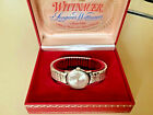 Vintage mens 1950s WITTNAUER longines winder 10k GF bezel and band  in watch box