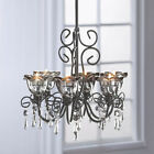 Smoked Glass Six Candle Chandelier