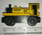 Thomas & Friends Yellow Duncan #6 Magnetic Wooden Railway Toy Train Engine