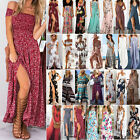 Women Boho Floral Maxi Dress Beach Holiday Long Evening Cocktail Party Sundress