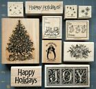 STAMPIN UP SINGLE RUBBER STAMPS HOLIDAY CHRISTMAS WINTER  MORE YOU PICK