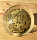 Vintage Asian Reverse Hand Painted Paperweight Crystal Ball Orb