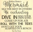 MERMAID Advice Wood Mounted Rubber Stamp IMPRESSION OBSESSION Stamp F17184 New