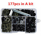 177Pcs Motorcycle Black Fairing Bolt Kit Bodywork Screws Spire Screw Spring Nuts