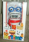1996 LARGE DRINK GUY LCD ALARM CLOCK  BANK McDonalds McTime Mint in Box