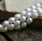Wholesale 8 9mm Real White Freshwater Pearl Rice Loose Beads 145 PL500