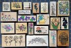 PRETTY FLORAL FLOWERS BOTANICAL THEME RUBBER STAMP DESIGNS So LOVELY YOU PICK