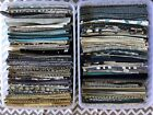 200 INTERIOR DESIGNER Fabric Samples w Plastic Containers Cool Blue Browns color