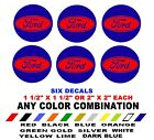 Ford Stickers Decals Hub Cap Wheel Center Two Color