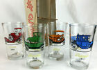 Hazel Atlas classic cars Gay Glasses 4 box NOS blue orange green red