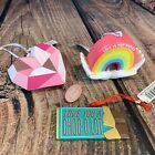 Hallmark Valentine Ornaments Mosaic Heart Rainbow Hands Chocolate Bar Love Wins