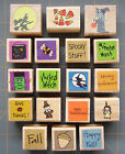 FALL RUBBER STAMPS LITTLE HALLOWEEN THANKSGIVING  AUTUMN DESIGNS YOU PICK