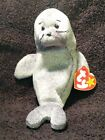 TY Beanie Baby Slippery The Seal Extremely RARE 1998 Retired TAG ERROR NEW!
