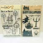 My Minds Eye lot 2 Clear Stamp Sets Haunted  Blackbird Halloween 20 pieces NEW