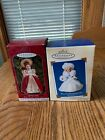 2 Hallmark Ornaments Madame Alexander GLORIOUS ANGEL & WINTER WONDERLAND NIB