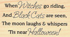 Halloween Witches Go Riding Wood Mounted Rubber Stamp IMPRESSION OBSESSION C5526