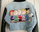 Too Cute Peanuts Gang Denim Jacket Size Sm Guetta Family Snoopy Charlie