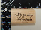 Stampin Up May You Always Find Joy Together Rubber Stamp