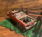 """Wrecked 1979 Ford Mustang� Diorama Scene / Realistic Looking Damage"