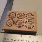 Outlines Rubber Stamps Company Get Well Love You Happy Day Thank You 25 x 35