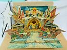 Vintage 1950s Kubasta Pop Up Book Silent Night Nativity Creche Christmas Card