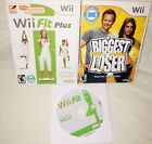 Nintendo Wii Fit Plus Lot of 3 Video Games Exercise  Fitness The Biggest Loser