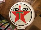 "Vintage Texaco Gas Pump Globe 13&1/2"" glass"