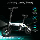 Folding Electric Bicycle 250W 36V Moped E Bike with Pedals 14 inch Wheels 25km h