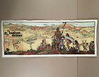 c.1926 SANTA FE RAILROAD FRED HARVEY HARVEYCARS INDIAN DETOUR Color Lithograph