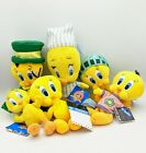 Vintage Tweety Bird Collectible Plush/Beanies - Lot of 6 with Original Tags