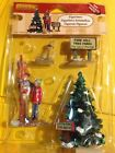 Lemax 2011 Vail Village Set of 4 Picking the Tallest Tree #12926 Retired