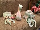 rare Two goochy and Neon beanie babies not checked for errors. Retired
