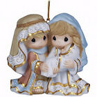 Ornament Nativity Unto Us A Child Is Born Bisque Porcelain 3