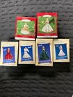 LOT OF 6 NEW HOLIDAY CELEBRATION BARBIE ORNAMENTS 2000/01/02/03/04/05 EDITIONS