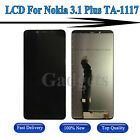 For Nokia 3.1 Plus TA-1117 LCD Display Digitizer Touch Screen Glass Assembly USA