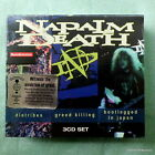 Napalm Death NEW 3CD Box Diatribes/Greed Killing/In Japan Brujeria Carcass Grind