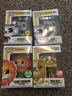 Funko Pop Games Cupehead Lot Of 4 Exclusives Chase Cuphead Mugman Cagney King D